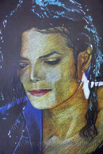 Potloodtekening Michael Jackson