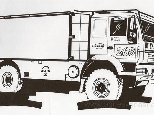 Pentekening vrachtwagen