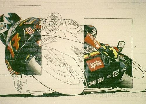 Wandschildering racemotor