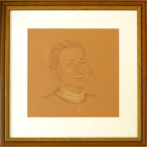 Zelfportret in kleurpotlood