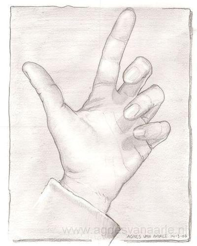Potloodschets handen