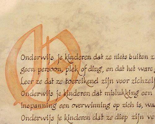 Gekalligrafeerde tekst