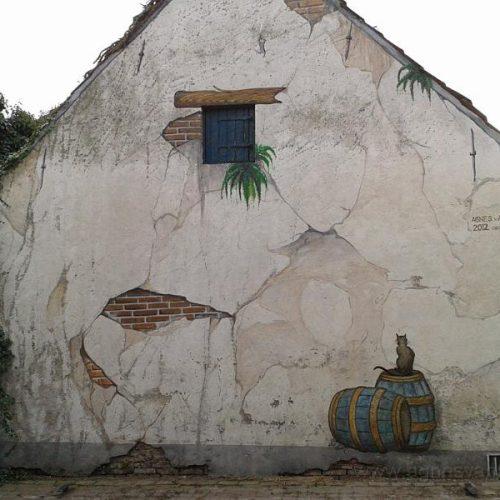 Wanddecoratie in Anton Pieck stijl