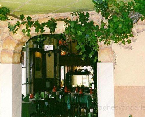 Muurschildering Grieks restaurant