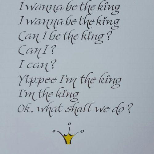 Gedicht in kalligrafie